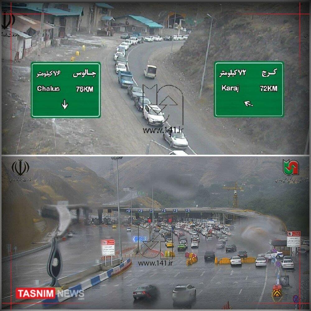 عکس   در آستانه تعطیلی ۶ روزه؛ ترافیک سنگین در جاده چالوس