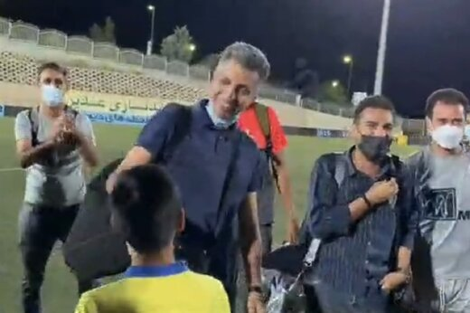 ببینید | شوخی خندهدار فردوسیپور با پسر رضا عنایتی بعد از صعود هوادار