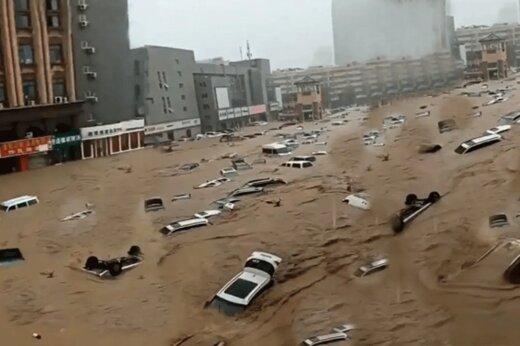 ببینید   تصاویر وحشتناک هوایی از سیل در استان هنان چین
