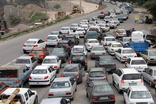 شلوغی محسوس جادهها در پایان هفته گذشته