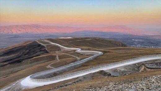 دیوارکشی سریع ترکیه در مرز با ایران