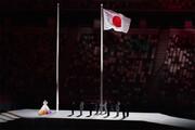 ببینید | لحظه برافراشته شدن پرچم ژاپن در افتتاحیه المپیک 2020