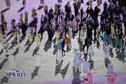 تصاویر | رژه کاروان ایران در افتتاحیه المپیک توکیو