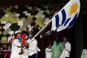 ببینید | فاجعه در کاروان ورزشی اروگوئه؛ جنگ جنجالی پرچم در رژه افتتاحیه المپیک