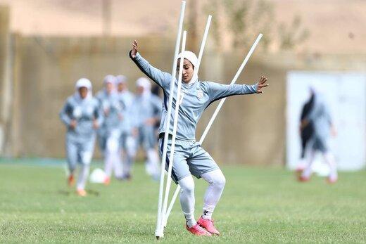 تمرین شاداب #تیم_ملی فوتبال زنان ایران در اصفهان