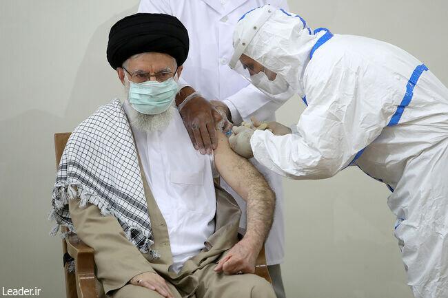 تصویری از تزریق واکسن کرونا به رهبر انقلاب