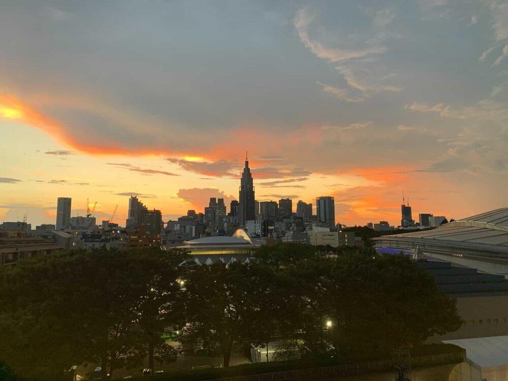 عکس   آخرین غروب توکیو پیش از شروع رقابتهای المپیک 2020