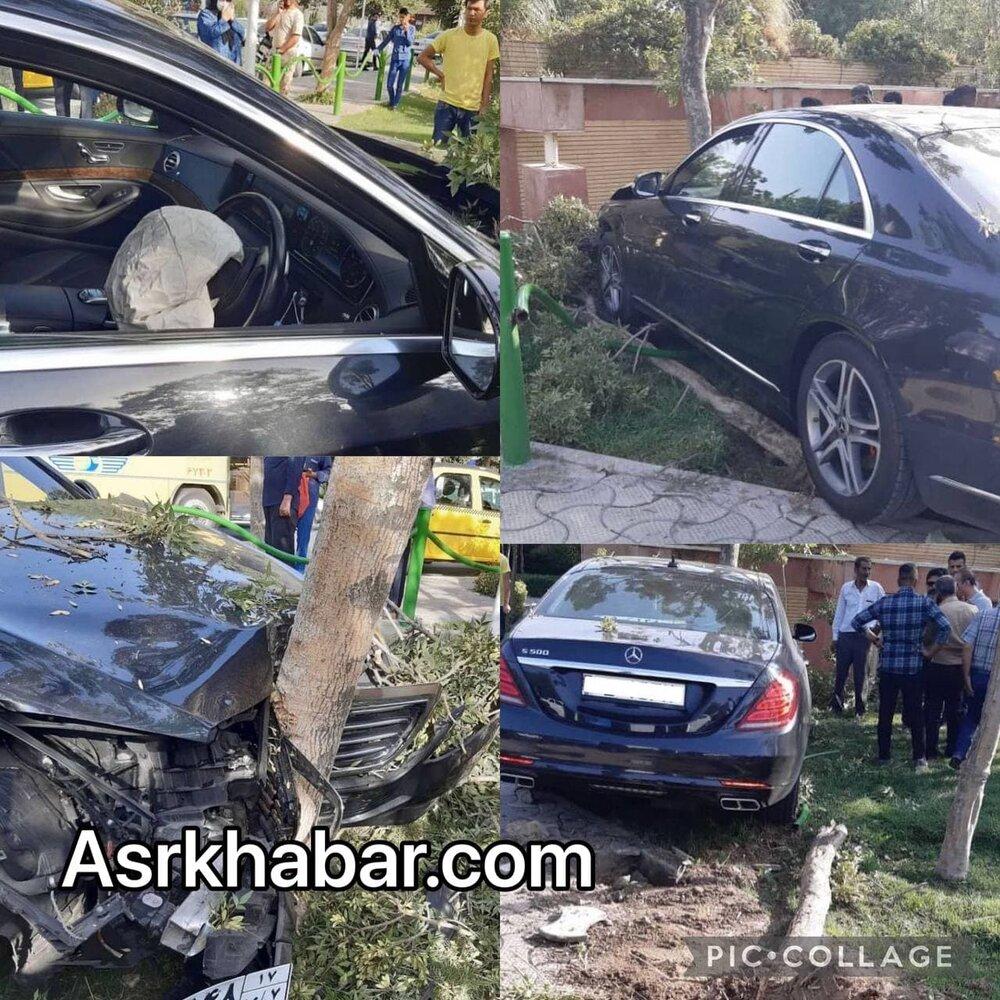 عکس   تصادف سنگین و وحشتناک بنز S۵۰۰ گذر موقت در تهران