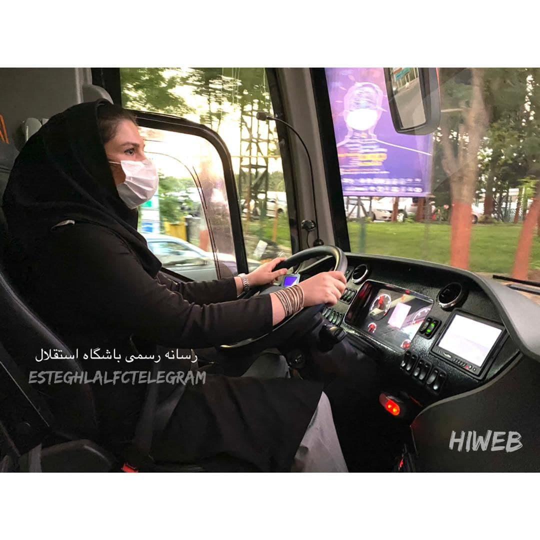 استقلالیها با رانندگی یک خانم به قائمشهر رفتند/عکس