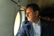 ببینید | بازدید هوایی جهانگیری از مناطق دچار بحران آب در خوزستان