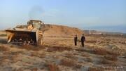 رفع تصرف ۱۳۰.۶هزار مترمربع اراضی خالصه دولتی به ارزش ۱۳۰.۶میلیارد ریال در روستای ریگو قشم