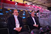 ببینید | خوشحالی وزیر ورزش و رئیس کمیته المپیک از پیروزی ایران مقابل لهستان