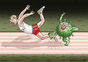 ببینید: پشتپای کرونا به ورزشکاران المپیکی!