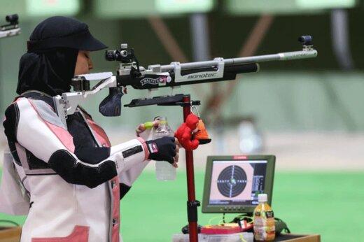تصاویر | رقابت نمایندگان ایران در مسابقات تیراندازی المپیک ۲۰۲۰