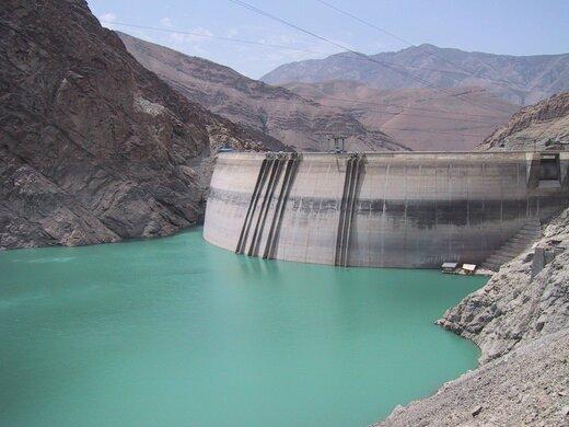 ۳۸۱ میلیون متر مکعبی حجم آب سدهای پنجگانه استان تهران کاهش یافت