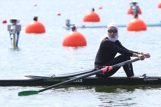 ببینید | شاهکار نازنین ملایی در قایقرانی المپیک