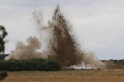 ببینید | یادگاری دردسرساز جنگجهانی؛ کشف و انهدام بمب 227 کیلویی
