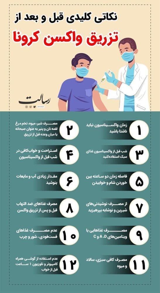 ببینید   نکاتی کلیدی قبل و بعد از تزریق واکسن کرونا