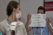 بینید | عاشقانه در المپیک؛ لحظه خواستگاری مربی از شاگردش در توکیو ۲۰۲۰