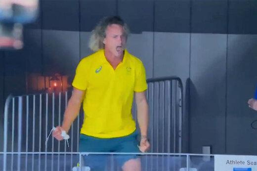 ببینید | خوشحالی عجیب و زایدالوصف مربی استرالیایی در المپیک 2020