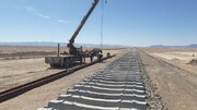پایان ریلگذاری خطآهن خاش-زاهدان همزمان با عید غدیر خم