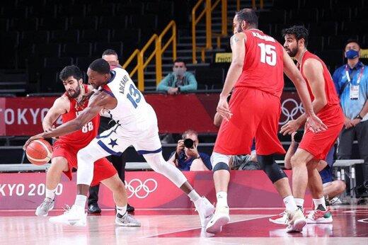 تصاویر | قابهایی جالب از شروع تقابل بسکتبال ایران و آمریکا در المپیک توکیو