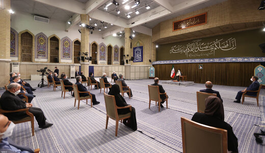 توضیحات دفتر روحانی درباره حواشی دیدار هیات دولت با رهبری