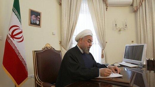 حکم حسن روحانی یک هفته به پایان ریاست جمهوری