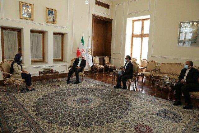 دیدار خداحافظی سفیر بلژیک در تهران با ظریف