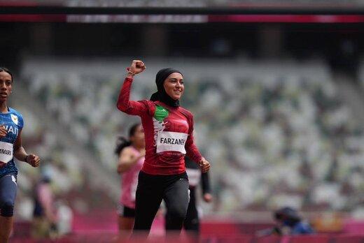 ببینید | آنچه به عنوان مسابقه دوی ۱۰۰ متر فرزانه فصیحی  از شبکه ورزش پخش شد
