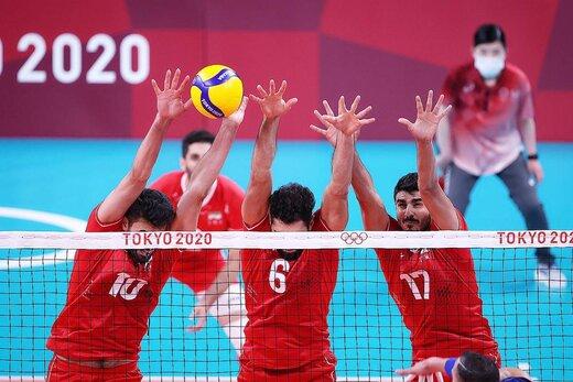 والیبال ایران و ایتالیا در المپیک توکیو