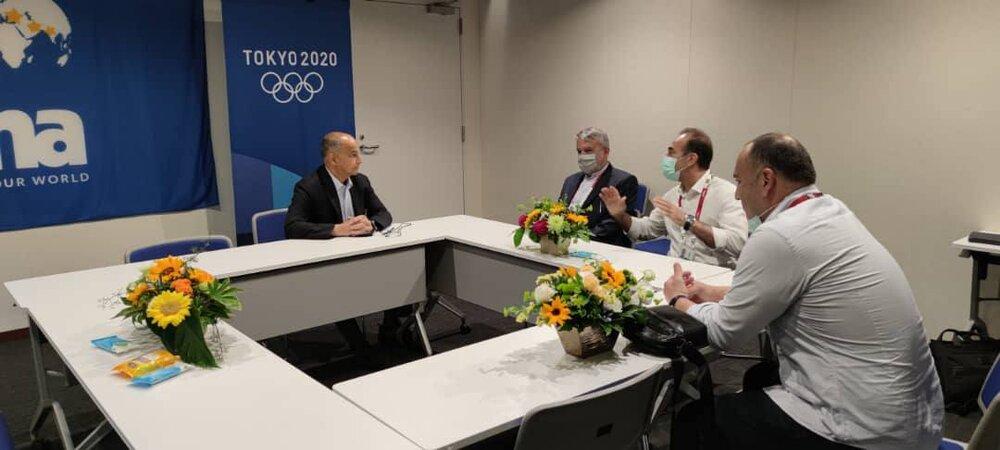 دیدار رئیس کمیته ملی المپیک با رئیس فدراسیون جهانی شنا