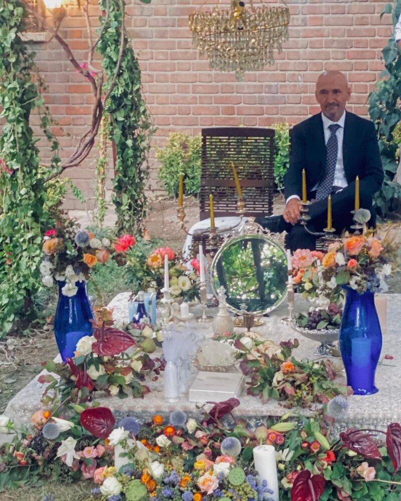 عکس | پیام احساسی فرشته حسینی برای پدرش سر سفره عقد با نوید محمدزاده
