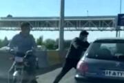 ببینید | زورگیران آزادراه  تهران - کرج در دام پلیس