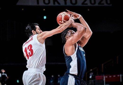 پایان کار بسکتبال ایران در المپیک با شکست مقابل فرانسه