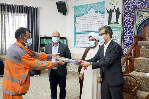 قدردانی از پاکبانان و کارگران خدمات شهری کیش به مناسبت عید سعید غدیرخم