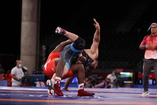امین میرزازاده ملی پوش سنگین وزن کشتی فرنگی در المپیک توکیو