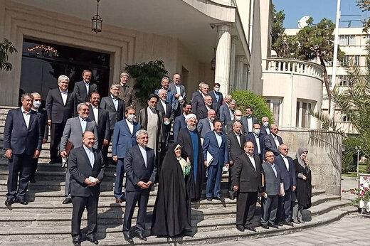 ببینید | آخرین عکس یادگاری هیات دولت روحانی