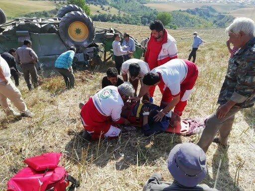 راننده جوان کمباین بر اثر سقوط از پل روستایی جان باخت