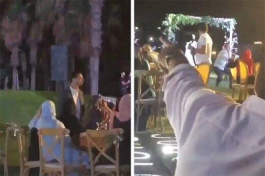 ببینید |  لحظه هولناک ترور یک عضو حزب الله لبنان در جشن عروسی!