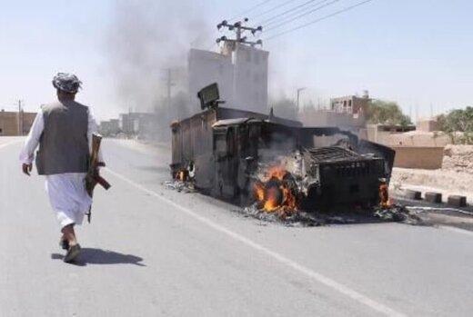نبرد سنگین نیروهای امنیتی افغانستان با طالبان در هرات/بمبافکنهای آمریکایی بمباران کردند