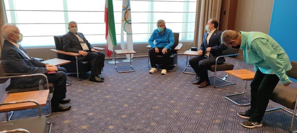 دیدار صالحی امیری با رئیس کمیته بینالمللی المپیک/عکس