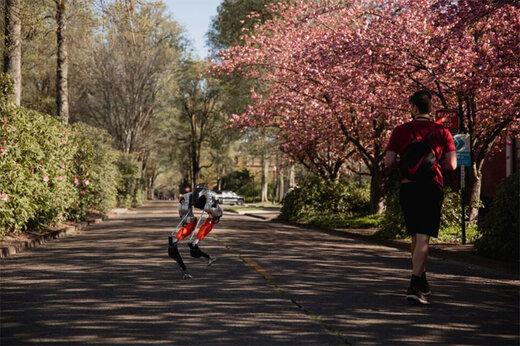 ببینید | رقابت یک ربات دو پا با انسان در مسابقه دوومیدانی