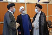 عکس دو نفره رئیسی و روحانی در آغاز به کار دولت جدید /سیدحسن خمینی درحال گفتگو با رئیس جمهور جدید