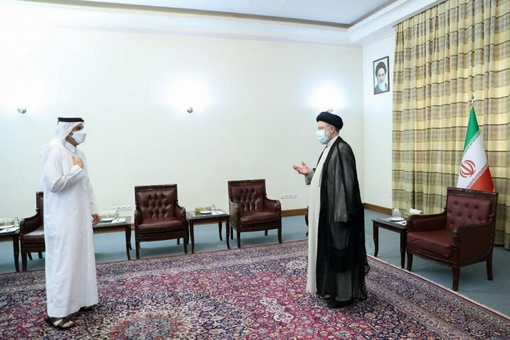 اولین دیدار دیپلماتیک رئیسی بعد از تنفیذ حکم ریاست جمهوری