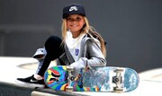 دختر بچه بانمکی که مدال المپیک میگیرد/عکس