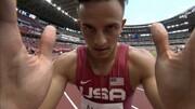 حرکات موزون یک آمریکایی در المپیک/عکس