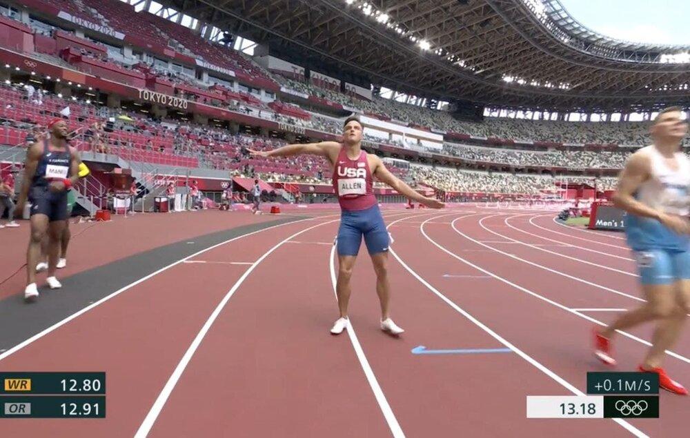 حرکات موزون یک آمریکایی در المپیک/عگس