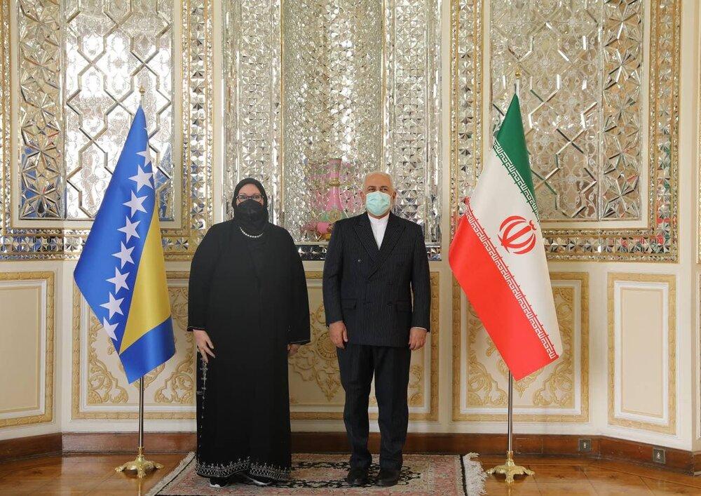 دیدار وزیران امور خارجه ایران و بوسنی در تهران