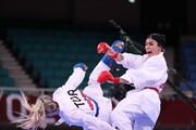ببینید | طوفان سارا بهمنیار مقابل قهرمان جهان